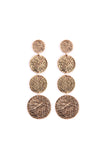 HDE2074 - SCRATCH DISC DROP EARRINGS