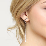 Moon and Star Threader Earring