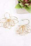 Wire Flower Hoop Earrings