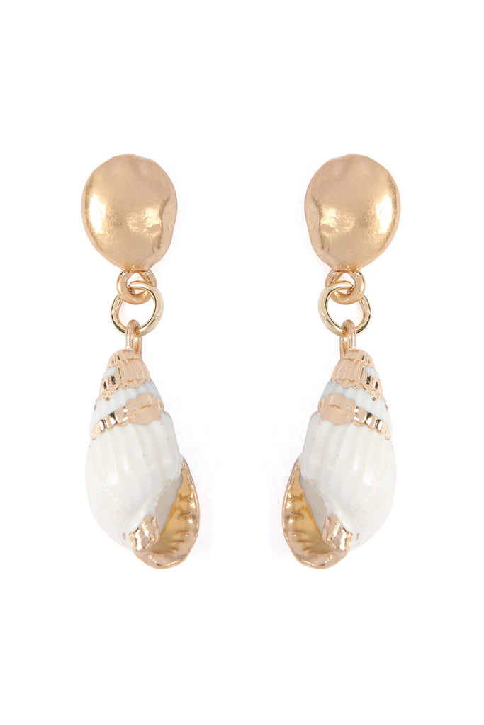 HDE2288 - SEA SHELL DROP EARRINGS - 4
