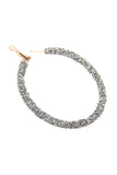 Rhinestone Coated Hoop Earrings
