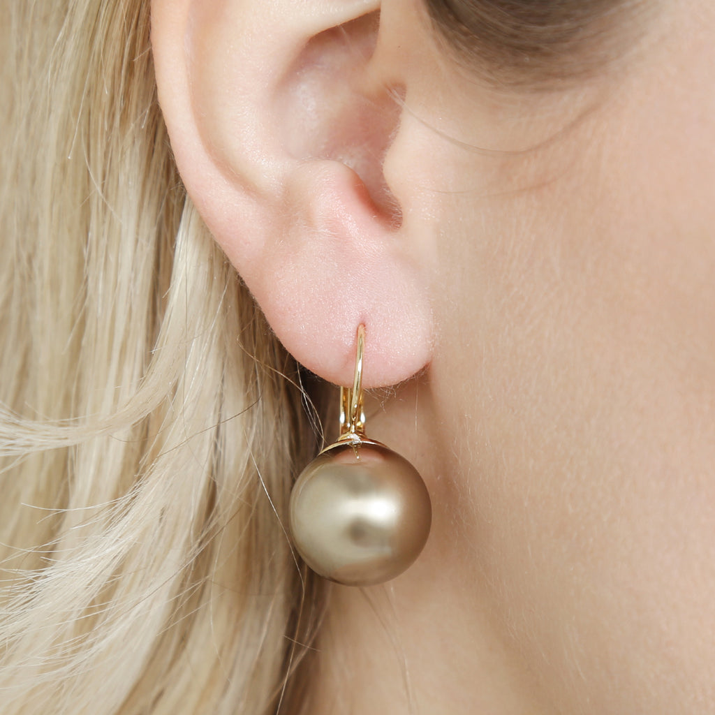 Hinged Pearl Earrings