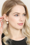 HDE2343 - HINGED PEARL EARRINGS