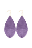 GRUNGE TONE FRINGED DROP LEATHER EARRINGS