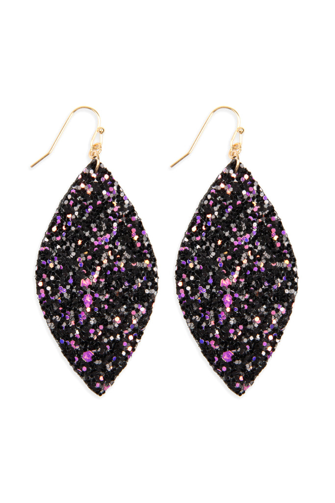 HDE2561 - SEQUIN MARQUISE DROP EARRINGS