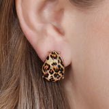 HDE2570 - WATER DROP SHAPE CUSHION EARRINGS