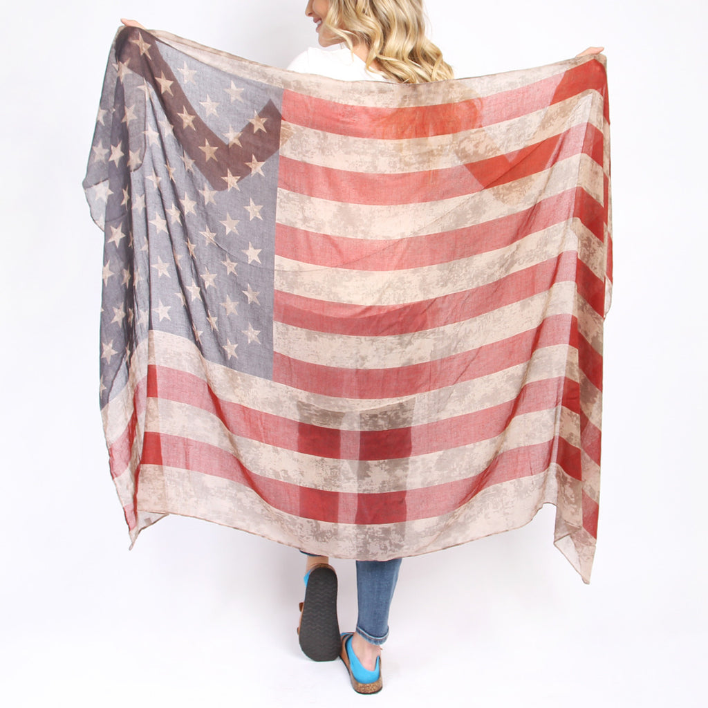 American Flag Oblong Scarf