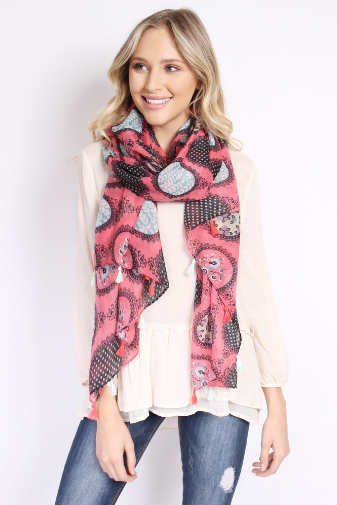 Multi Printed Oblong Scarf