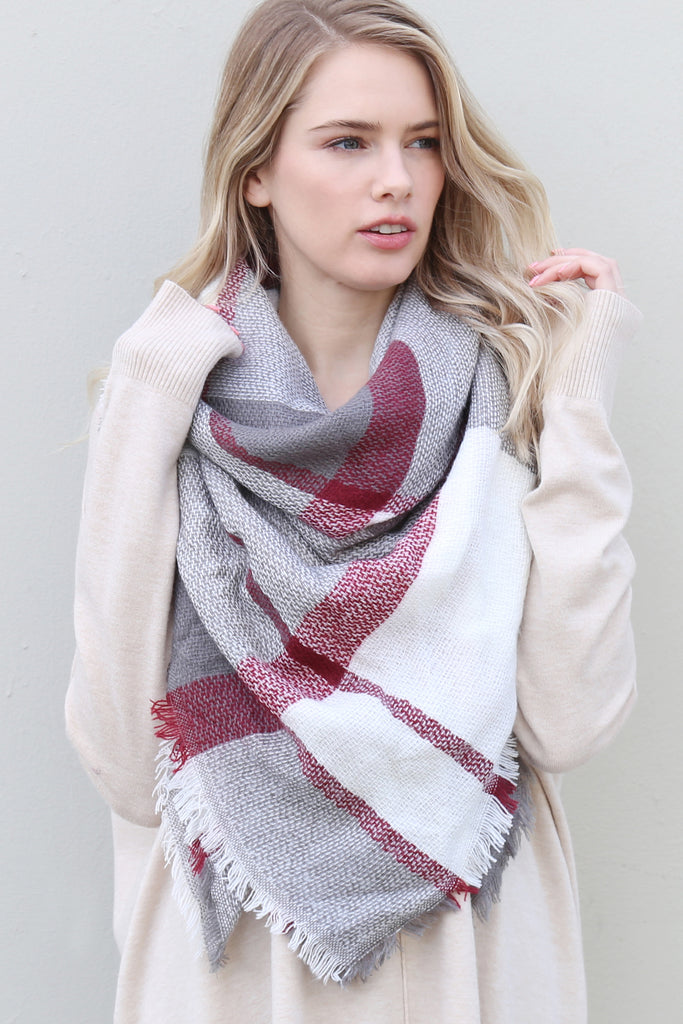 Colorblock Blanket Scarf - Style 1