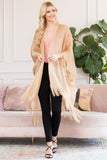HDF2700G - Gold Metallic Colored Tassel Beach Kimono
