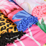 HDF2758-23 - LEOPARD SQUARE BEACH TOWEL