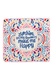 HDF2758-8 - HAPPY PATTERN SQUARE TOWEL