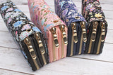 Floral Double Zipper Wallet