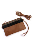 Fringed Wrist Strap Wallet/Shoulder Bag