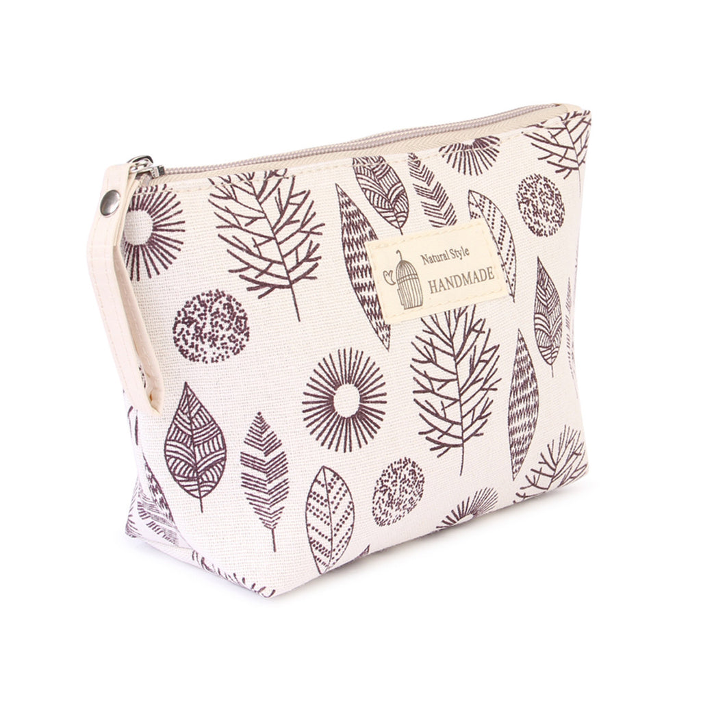 Aztec Leaf Print  Cosmetic Pouch