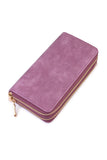 PU Double Zipper Wallet