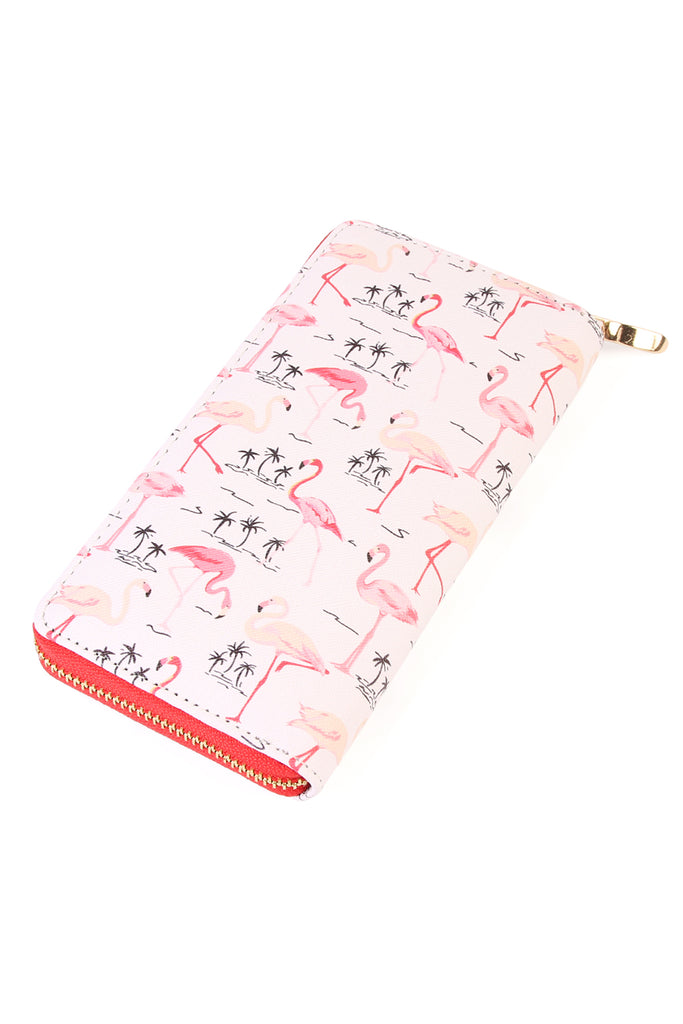 Pink Flamingo Zipper Wallet