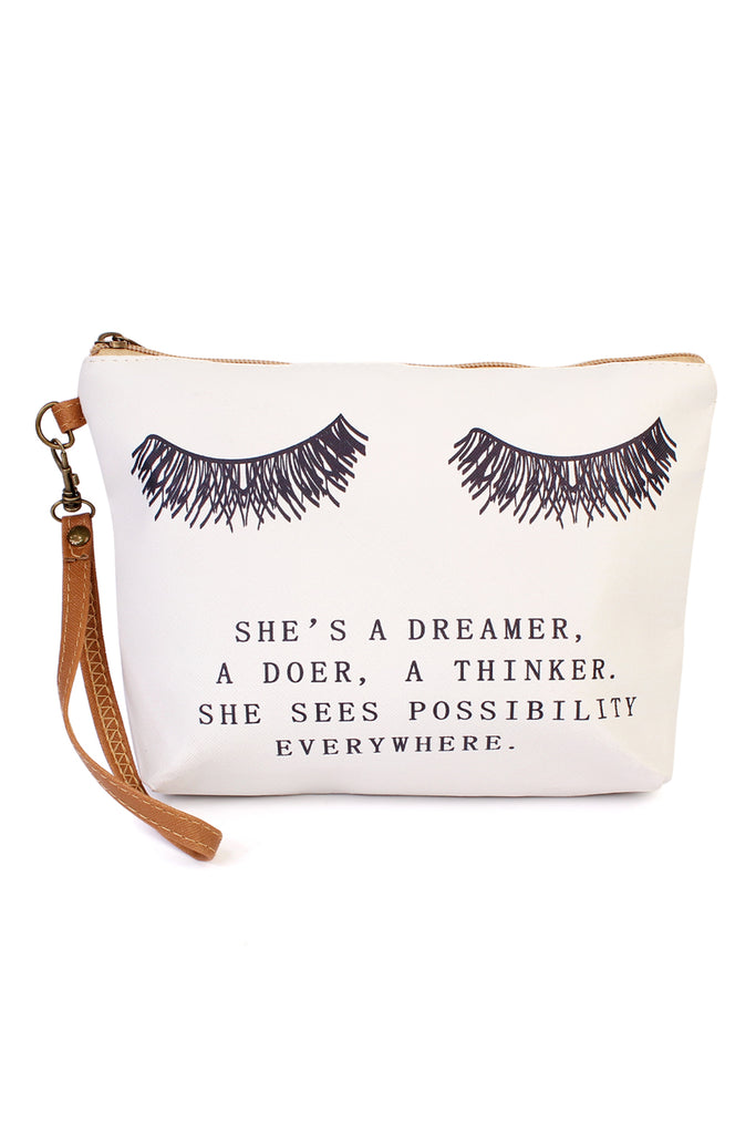 """She's a Dreamer"" Cosmetic Bag - Riah Fashion"