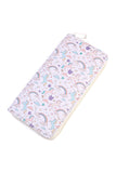 Unicorn Print Single Zipper Print Wallet