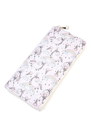 Ice Cream Print Single Zipper