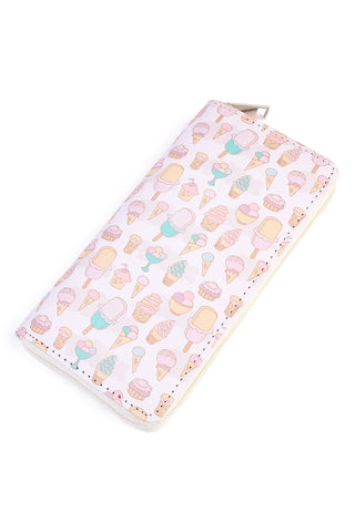 Pineapple Print Single Zipper Wallet