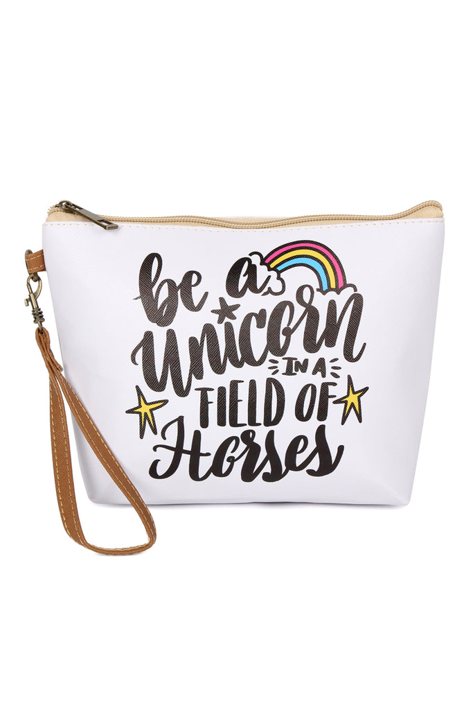 """Be A Unicorn"" Cosmetic Bag"
