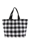 HDG2823 - PLAID TOTE BAG