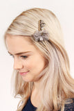 Vintage Clear Glass Hair Pin