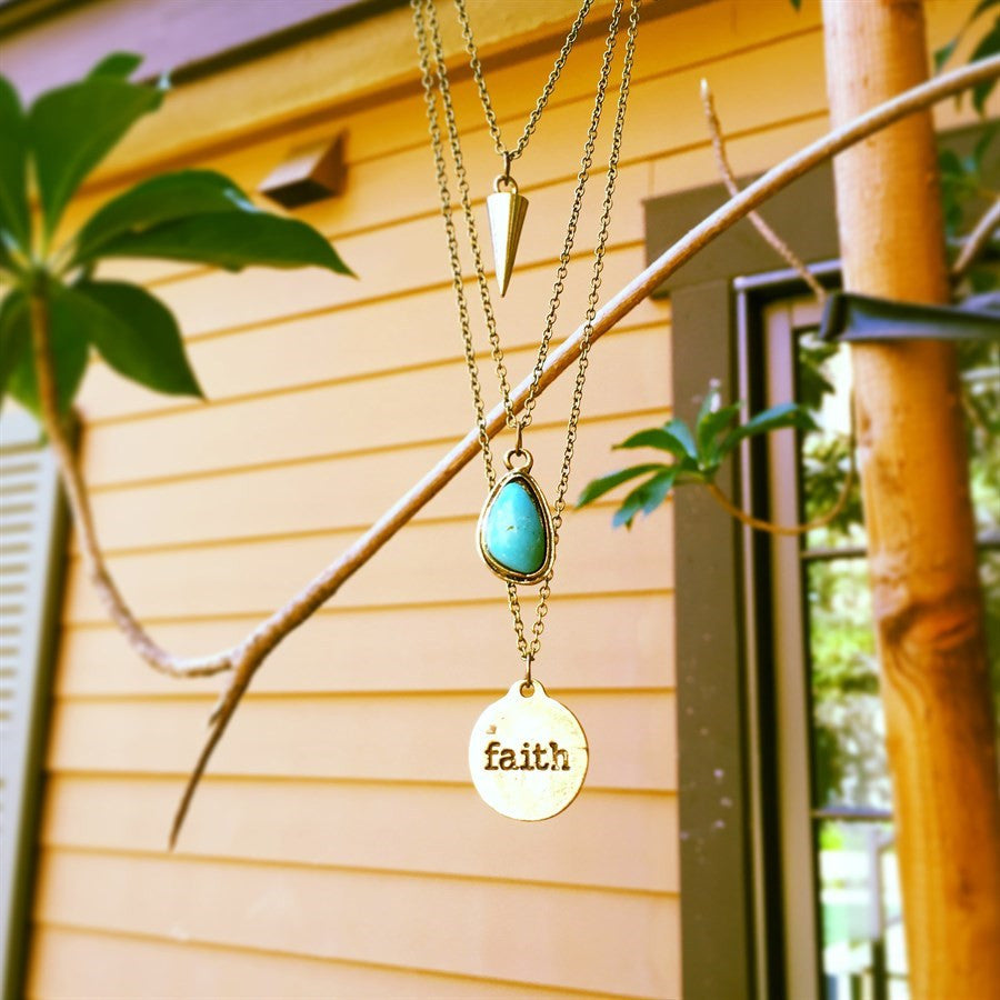 "Four Layer ""Faith"" Necklace"