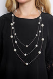 Delicate Pearl Chain Necklace