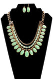 Oval Statement Necklace Set