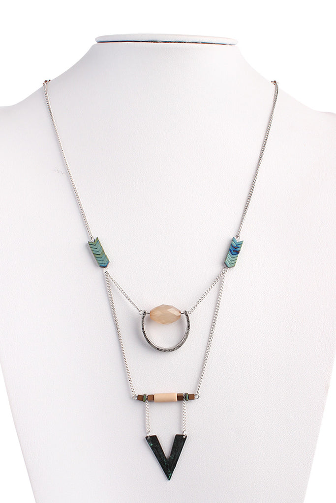 Chevron Multi Design Necklace