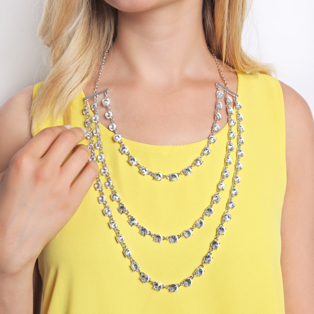 Glass Layered Necklace