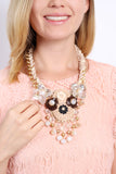 Oversize Floral Bib Necklace