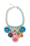 Springtime Floral Bib Necklace