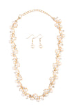 Acrylic Pearl Statement Necklace and Earrings