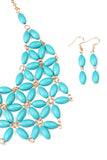 Beaded Bib Necklace and Earring Set - Riah Fashion