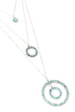 Open Circle Layer Turquoise Necklace