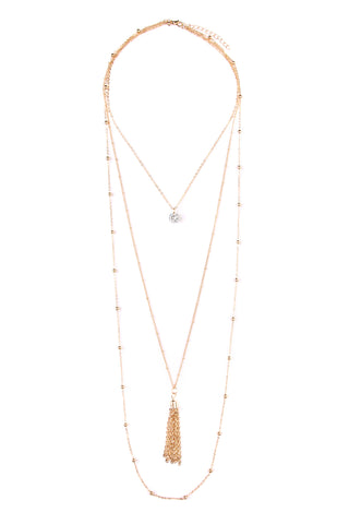 Tassel Cloud Pendant Necklace and Stud Earring Set