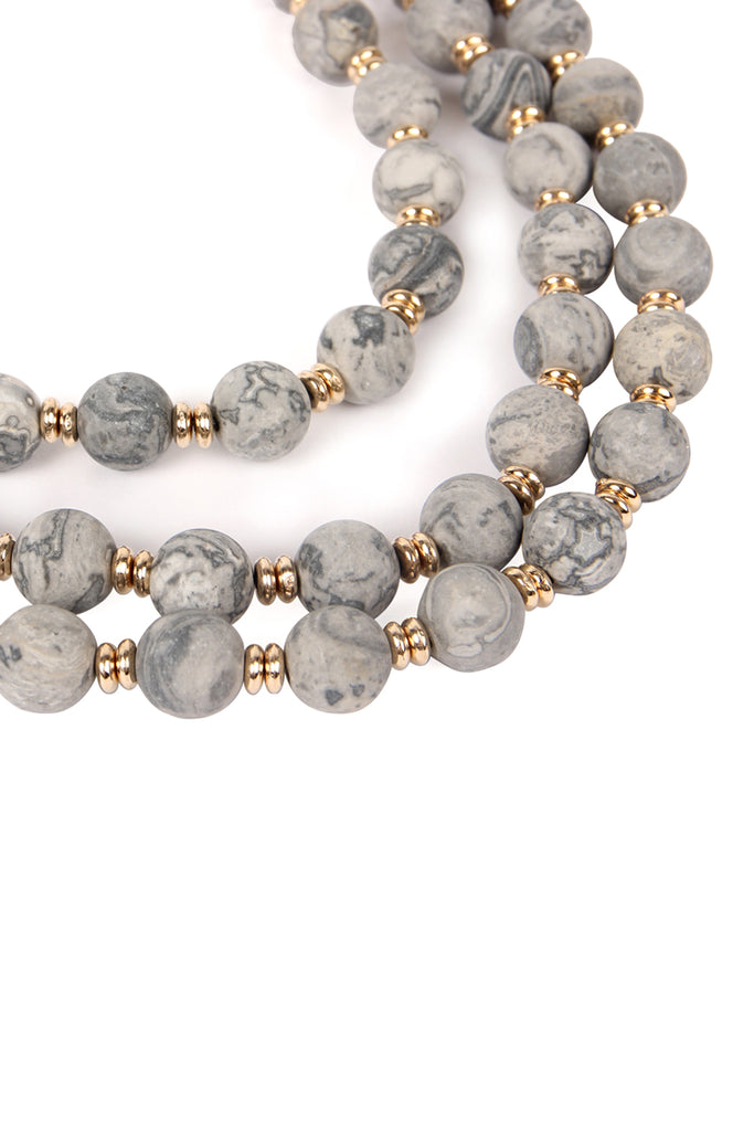 Three Layer Stone Necklace
