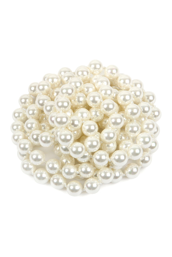 60 Inch Glass Coated Real Pearl Necklace