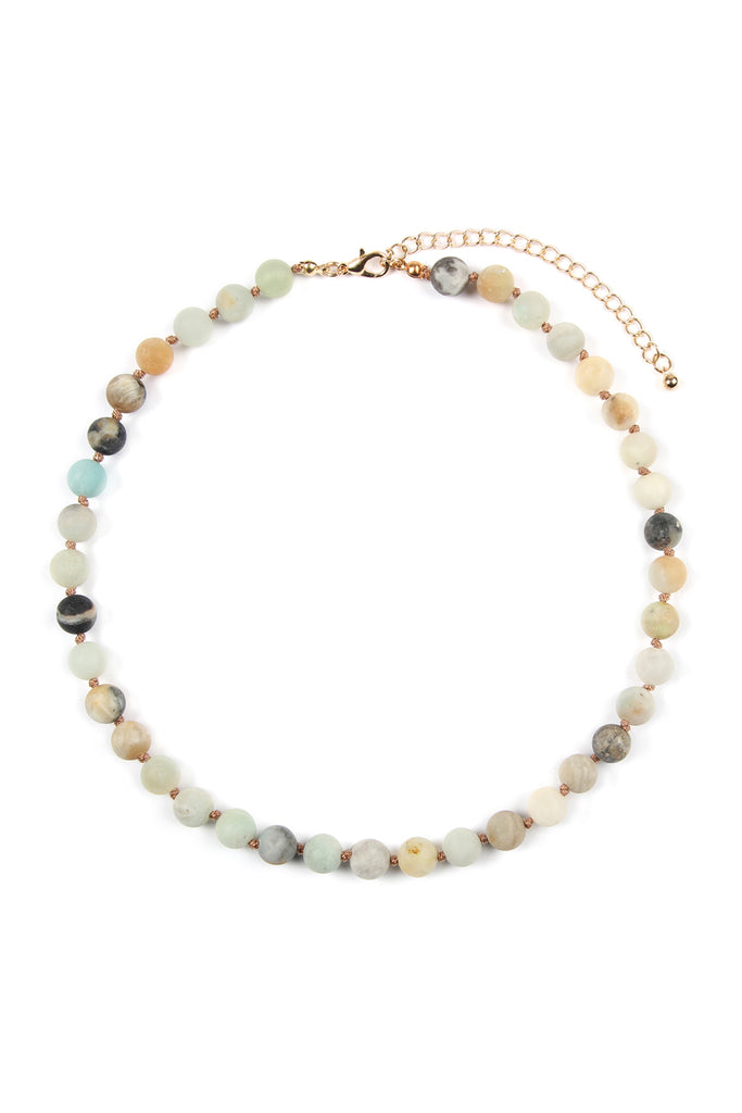 8mm Natural Stone Necklace