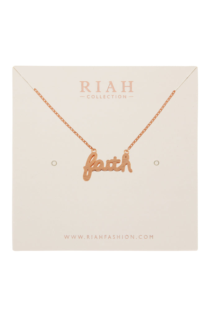"""Faith"" Cast Necklace"