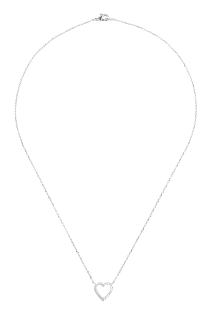 Heart Crystal Pave Necklace