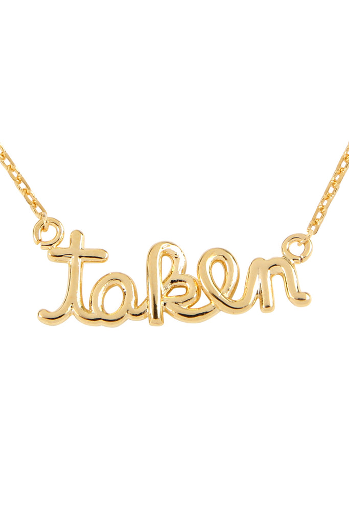 "Cast ""Taken"" Pendant Necklace"