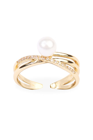 Cross Cubic Zirconia Wrap Ring