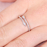 Arrow Cubic Zirconia Wrap Ring
