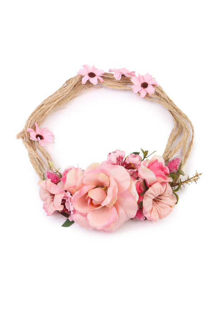 Open Rose Hair Headwrap/Belt