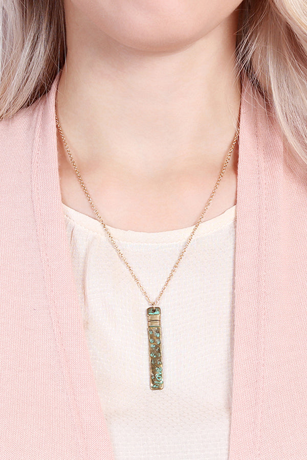 """Love"" Bar Necklace"