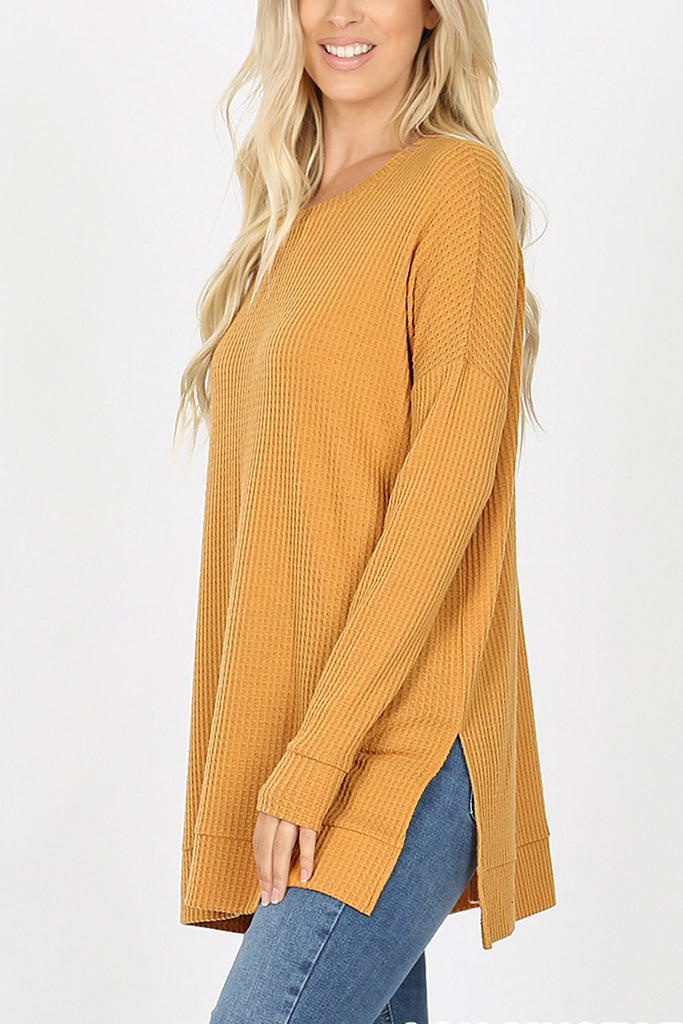 Brushed Thermal Waffle Sweater